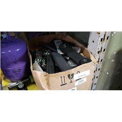 BOX OF REMOTE CONTROLS