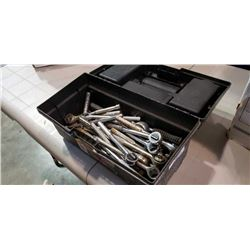 BLACK TOOLBOX OF RATCHETING SOCKET WRENCHES
