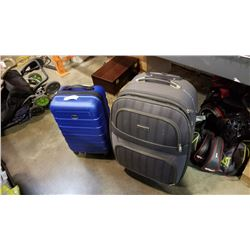 GREY PRINCE EUGENE AND BLUE OUTBOUND LUGGAGE
