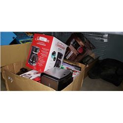 2 Boxes of electronics and appliences