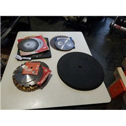 LOT OF VARIOUS CUTTING DISCS AND SAW BLADES