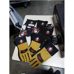 LOT OF ANARCHY WELDING LEATHER GLOVES