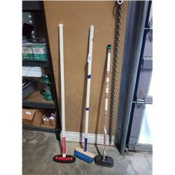 3 modern curling brooms