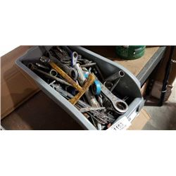 BIN OF RATCHETING WRENCHES AND TOOLS