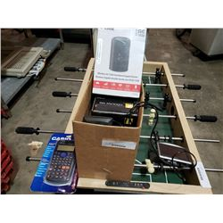 Box of electronics including new router