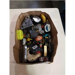 BOX OF MEASURING TAPES