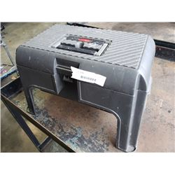 RUBBERMAID TOOL BOX STOOL WITH CONTENTS