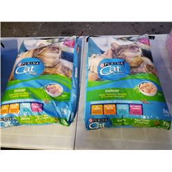 2 - 8kg bags of purina cat chow