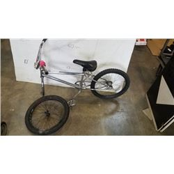 SILVER NO BRAND BMX BIKE