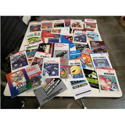 LOT OF RETRO ATARI INSTRUCTION BOOKLETS