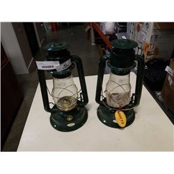 2 DIETZ OIL LAMPS