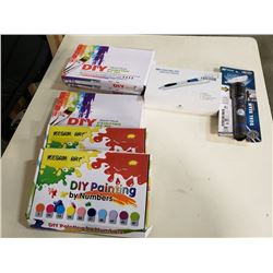 NEW DIY PAINTING SETS, 3D PEN AND FLASHLIGHT