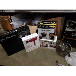 BOX OF HOUSEHOLD ITEMS, APPLIANCES