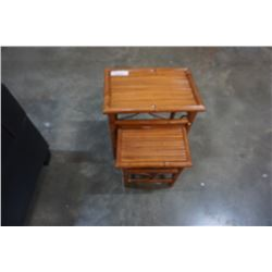 2 BAMBOO NESTING TABLES