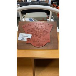 DOUBLE L BRAND AMERICAN MADE STAMP 12INCH WIDE