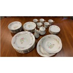 CROWN MING BIRD OF PARADISE CHINA  PLATES, BOWLS, CUPS AND SAUCERS