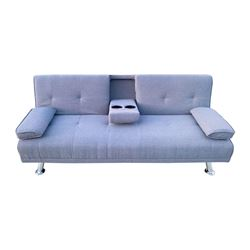 "BRAND NEW CHARCOAL SPENCER SOFA BED - RETAIL $999 OVERALL DIMENSION:   72"" W x 33"" D x 30"" H"