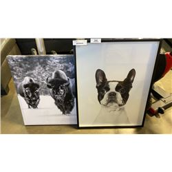 DOG AND BISON PRINTS