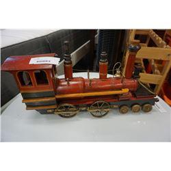 LARGE WOOD TRAIN FIGURE