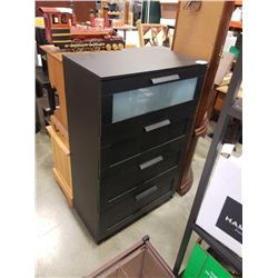 BLACK 4 DRAWER CHEST OF DRAWERS