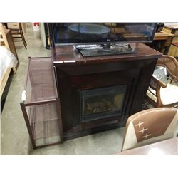 FIRE PLACE MANTLE WITH ELECTRIC FIREPLACE INSERT