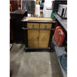 TOLE PAINTED 2 DRAWER CABINET