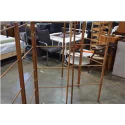 Vintage folding wood clothes rack