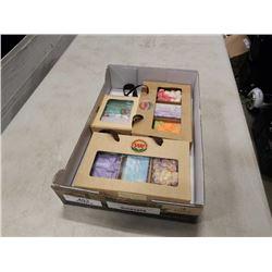 Tray of natural handmade soap