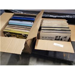 2 boxes of records,The beatles, led zeppelin and others