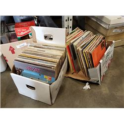 2 boxes of records,Rolling stone, ACDC, led zeppelin and others