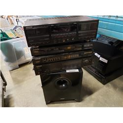 Pioneer and Ken wood stereo components which energy sub
