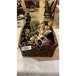 BASKET OF COLLECTABLE FIGURES