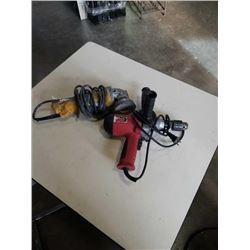 Hammer drill and DeWalt angle grinder