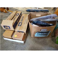 TRAY AND BOX OF WASHING MACHINE HOSES, PLUMBING, RING PULLS