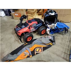 Large RC car with remote and motorcycle gear