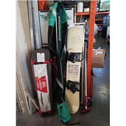 Nitro snow board with Dynastar skis