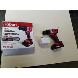 HYPER TOUGH 20V CORDLESS DRILL - TESTED AND WORKING