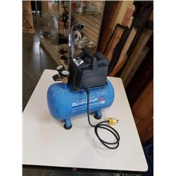 MASTERCRAFT 3 GALLON PORTABLE AIR COMPRESSOR - TESTED AND WORKING