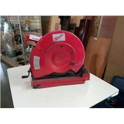 MILWAUKEE 14 INCH ABRASIVE CUT OFF SAW TESTED AND WORKING