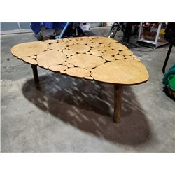 CUSTOM HAND CRAFTED SOLID WOOD COFFEE TABLE
