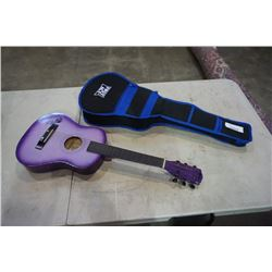 FIRST ACT AND POWER PLAY YOUTH ACCOUSTIC GUITARS - 1 W/ CASE