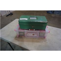 VINTAGE LIBERTY TACKLE BOX AND KETER CANTALEVER ORGANIZER