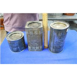 Metal Embossed Tins (3) - 2 are Silver
