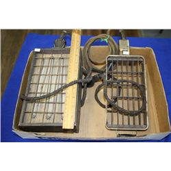 Two Antique Heating Elements - Both with Cloth Electrical Cords