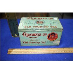 "Tea Tin ""Ridgeways Ltd."""