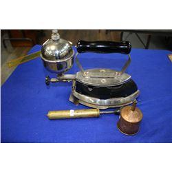 Coleman Gas Iron (Black) with Trivet, Pump & Funnel