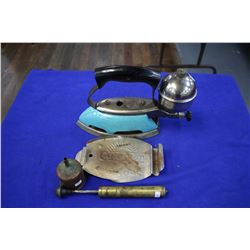 Coleman Gas Iron (Blue) with Trivet, Pump & Funnel