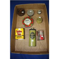Collection of Assorted Small Tins