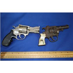 """Two Toy Guns: (1) Cast Iron """"Patrol"""" (USA) and (1) Made in China"""