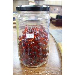 Jar with Red Marbles